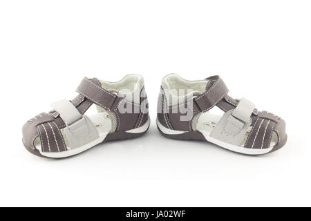 object, isolated, fashion, born, brown, brownish, brunette, new, shoes, - Stock Photo