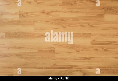 wooden floor - oak wood parquet / laminate background - Stock Photo