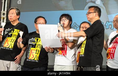 Hong Kong, Hong Kong SAR, China. 4th June, 2017. 1000's turn out for the 28th Tiananmen Square memorial vigil Hong - Stock Photo