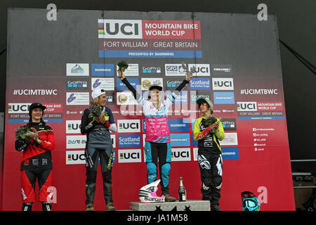 Women's Podium from left: Emilie Siegenthaler, Myriam ...
