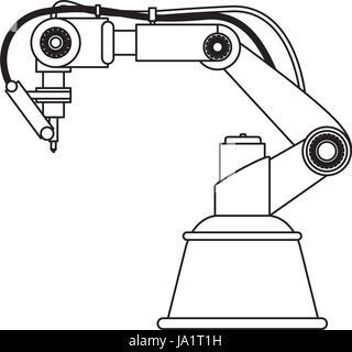 Robot Arm Laser - Stock Photo