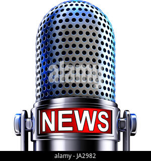 entertainment, news, radio, microphone, broadcast, broadcasting, coverage, - Stock Photo