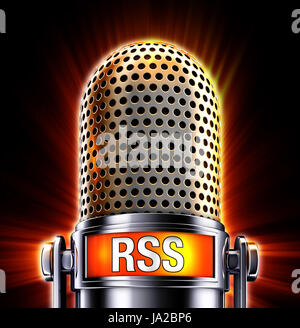 rss microphone - Stock Photo