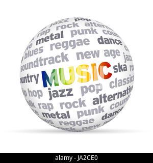 disco, music, classical, alternative, heavy metal, soundtrack, rock, disco, - Stock Photo