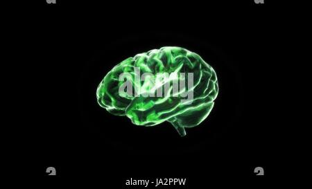 the crystal brain render for medical and biology concept - Stock Photo
