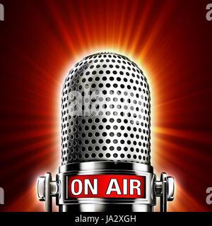 entertainment, radio, microphone, shipment, transmission, broadcast, sign, - Stock Photo