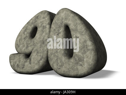 sign, signal, monument, stone, illustration, worth, anniversary, yrs, number, - Stock Photo