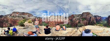 Angel Landing im Zion Nationalpark,Utah, USA - Stock Photo