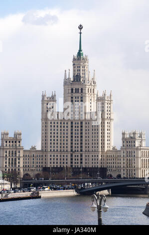 Moscow, Russia: view of the Kotelnicheskaya Embankment Building, one of the Seven Sisters group of skyscrapers designed in in the Stalinist style