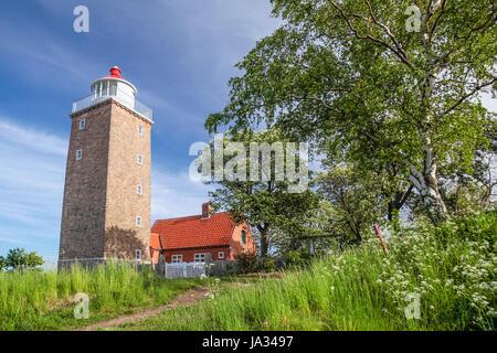 lighthouse of svaneke - Stock Photo