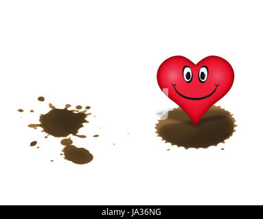 Heart In The Right Spot Stock Photo 207257173 Alamy