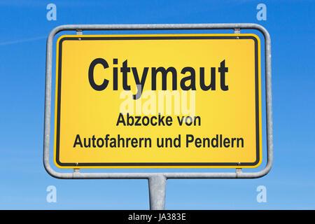 traffic, transportation, road traffic, city, toll, driver, sign, signal, blue, - Stock Photo