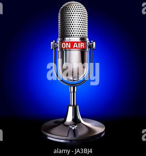 entertainment, music, studio, radio, microphone, shipment, broadcast, - Stock Photo