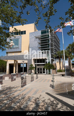 Exterior view of the Tampa Bay History Center downtown Tampa Florida USA - Stock Photo
