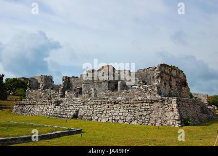 Mayan Ruins, Tulum, Quintana Roo, Mexico - Stock Photo