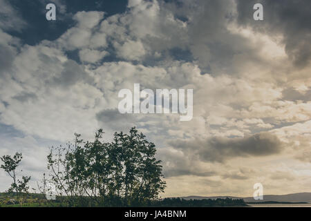 a sky with cloud patterns shot in Ireland. - Stock Photo