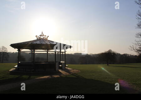 Band Stand in Roundhay Park - Stock Photo