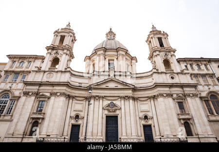 Church of Sant Agnese in Agone in Italy - Stock Photo
