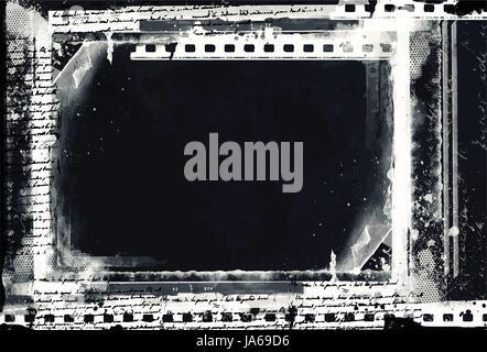 Grunge Vector  Frame Or Distressed Texture . Large High Detailed Decorative Vintage  Border. Great Grunge Background - Stock Photo