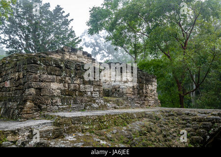 Mayan Ruins at Tikal National Park - Guatemala - Stock Photo
