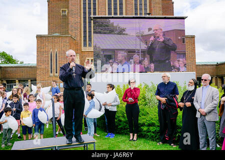 Guildford Cathedral, Guildford. 04th June 2017. The Archbishop of Canterbury, Justin Welby, opening the cathedral - Stock Photo