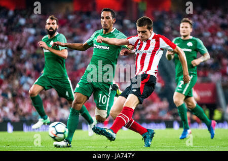 Bilbao, Spain. 24th Aug, 2017. during the football match of 3rd leg of third qualifying round of 2017/2018 UEFA - Stock Photo