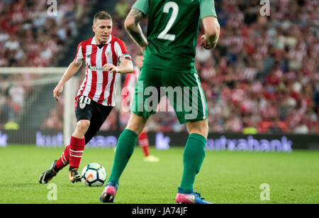 Bilbao, Spain. 24th Aug, 2017. Iker Muniain (Forward, Athletic Club) in action during the football match of 3rd - Stock Photo