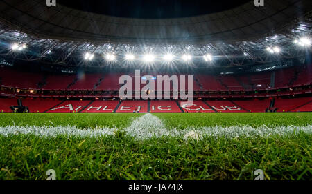 Bilbao, Spain. 24th Aug, 2017. Stadium of San Mames during the football match of 3rd leg of third qualifying round - Stock Photo