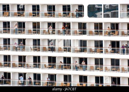 big cruise liner in Copenhagen port on September 10, 2011 - Stock Photo