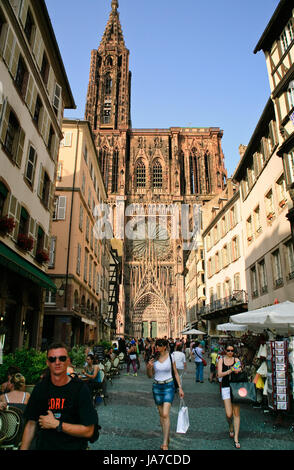 Cathedrale Notre-Dame in Strasbourg, France on JuLy 11, 2010 - Stock Photo