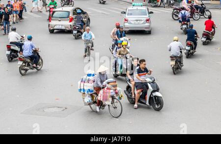 Traffic congestion Hanoi Vietnam - Stock Photo
