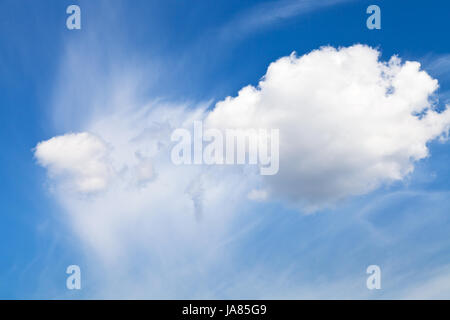 blue, environment, enviroment, space, heaven, paradise, cloud, summer, - Stock Photo