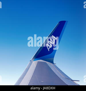 ANA wing - Stock Photo