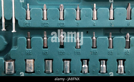 Different metal working tools - Stock Photo
