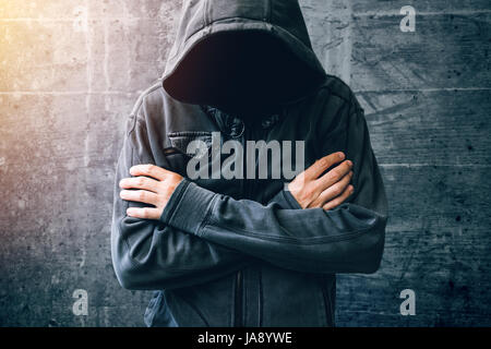 Hopeless drug addict going through addiction crisis, portrait of young adult person with substance dependence after - Stock Photo