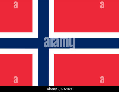 Norwegian flag of Norway - Proportions: 22:16 - Colours: Red