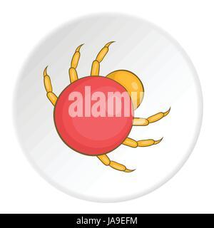 Mite icon, cartoon style - Stock Photo