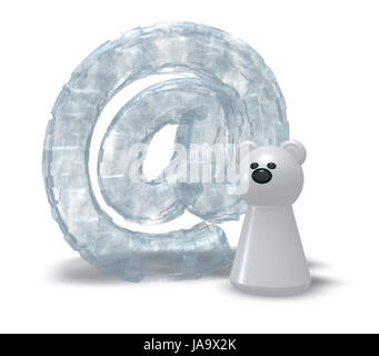 sign, signal, polar bear, ice, email, design, shaping, formation, shape, model, - Stock Photo