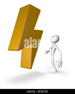 sign, signal, energy, power, electricity, electric power, illustration, - Stock Photo