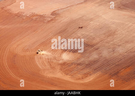 Aerial view of an industrial area. - Stock Photo