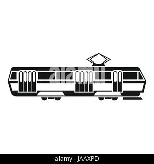 Tram icon, simple style - Stock Photo