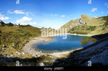 Bergsee grünes wasser