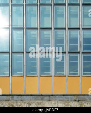 Architecture abstract background. Glass curtain wall texture. Stained-glass system based on outdated technology. - Stock Photo