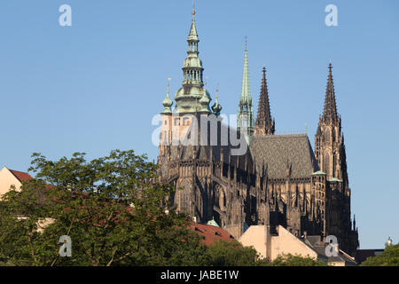 PRAGUE, CZECH REPUBLIC - MAY 28, 2017: St. Vitus Cathedral in the Hradcany district - Stock Photo