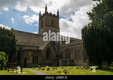 St Edmund's Parish Church in Stow-on-the-Wold - Stock Photo