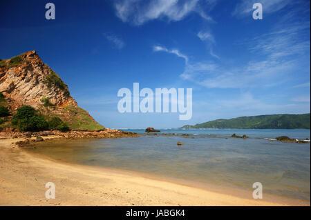 Kuta Beach, Lombok Island, Indonesia - Stock Photo