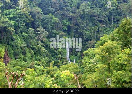 Sendang Gile Waterfall, Lombok, Indonesia - Stock Photo