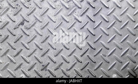 Silver color non-slip metal floor pattern and texture background - Stock Photo