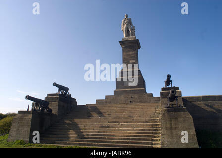 Admiral Lord Collingwood memorial, Tynemouth - Stock Photo