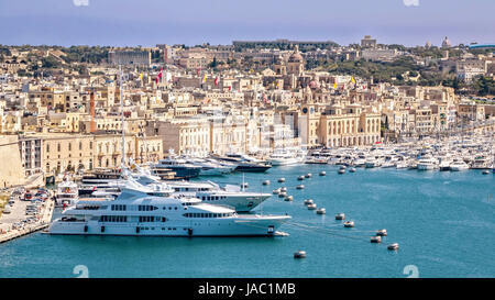 Marina at Kalkara, View From Grand Harbour, Malta - Stock Photo